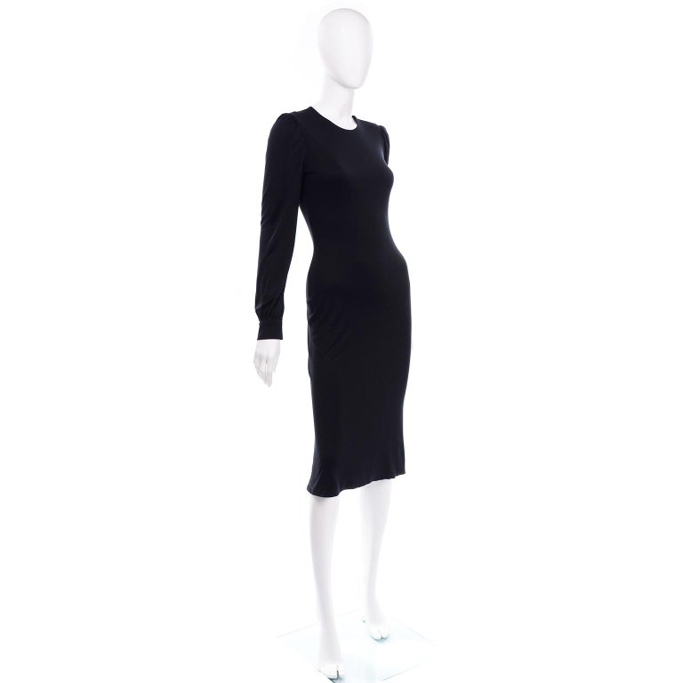 Alexander McQueen Black Dress With Low Lace Back 2005 The Man Who Knew Too Much For Sale 5