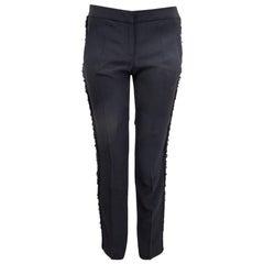 ALEXANDER MCQUEEN black EMBELLISHED Suit Pants 40 S