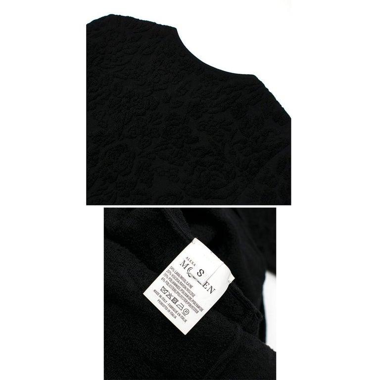 Alexander McQueen Black Flocked Velvet Dress SIZE S For Sale 6