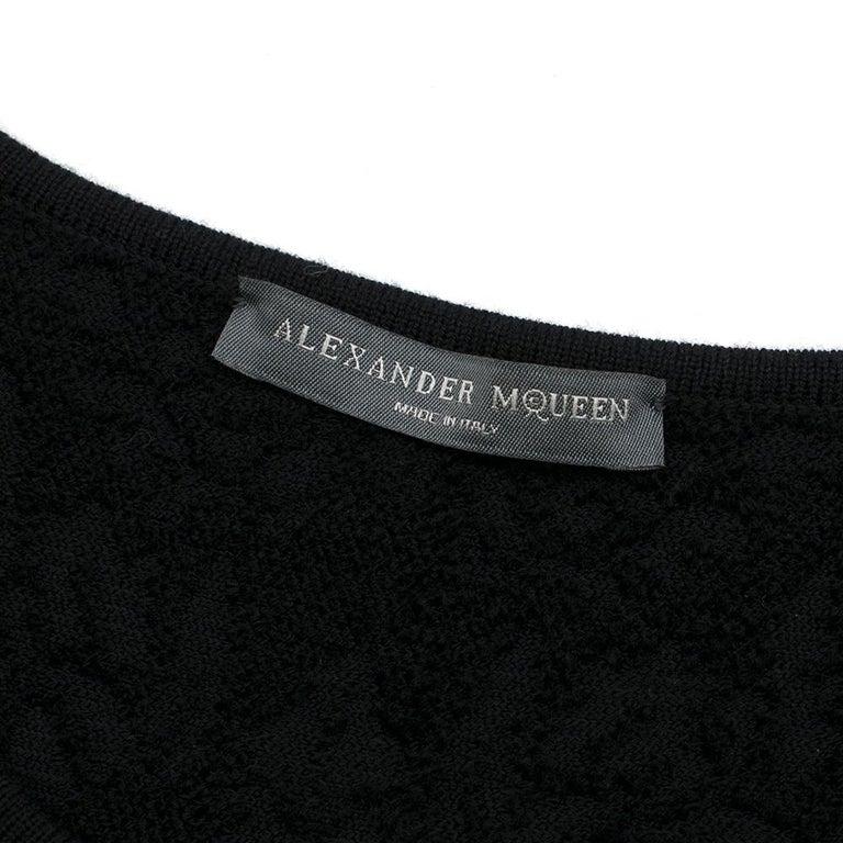 Alexander McQueen Black Flocked Velvet Dress SIZE S For Sale 1