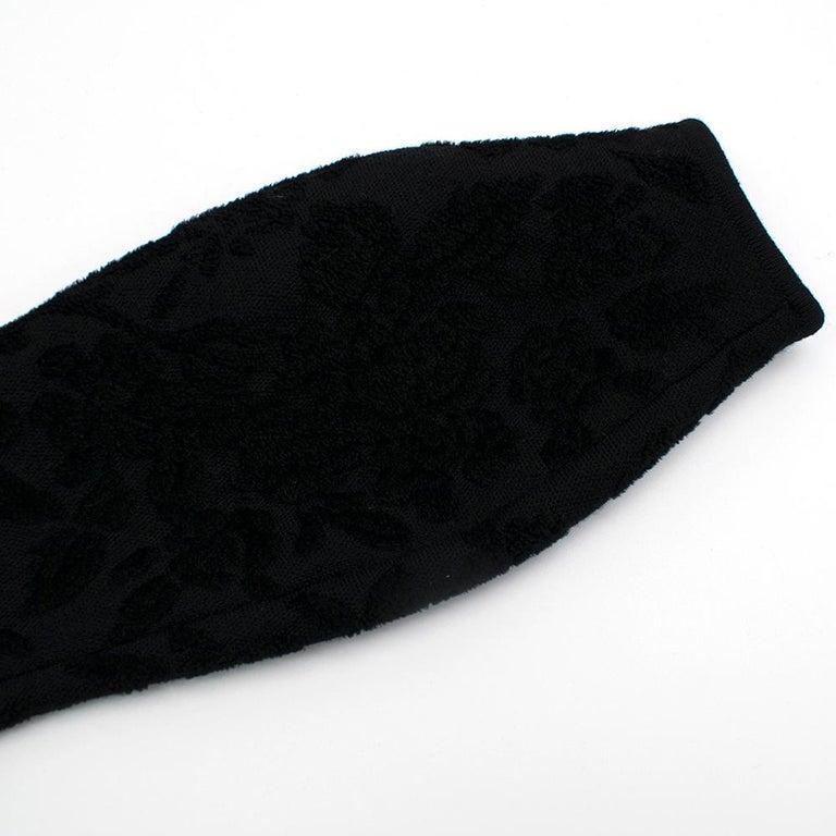 Alexander McQueen Black Flocked Velvet Dress SIZE S For Sale 3