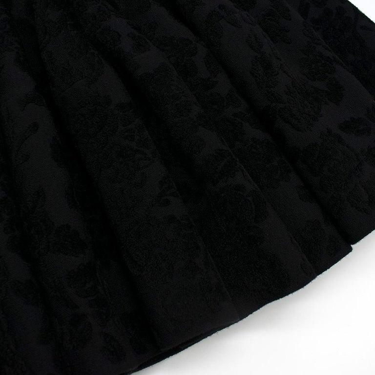 Alexander McQueen Black Flocked Velvet Dress SIZE S For Sale 4