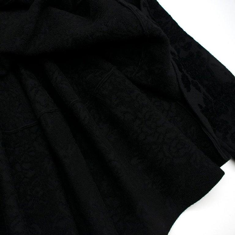 Alexander McQueen Black Flocked Velvet Dress SIZE S For Sale 5