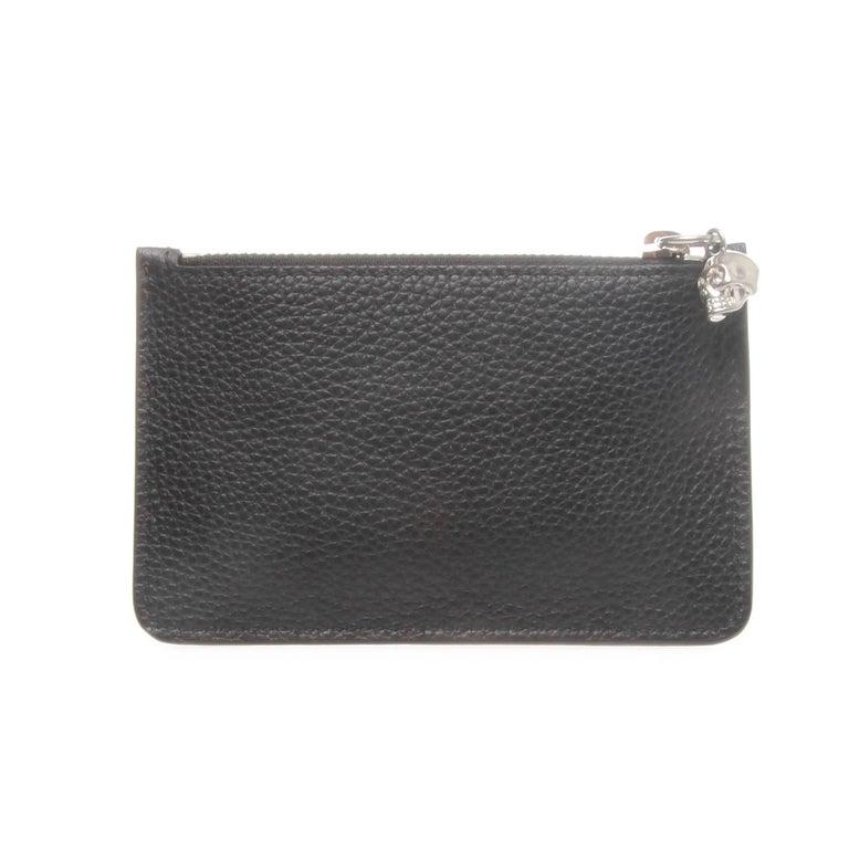 913493d2fb7c Alexander McQueen Black Grained Calfskin Key Holder Wallet For Sale ...