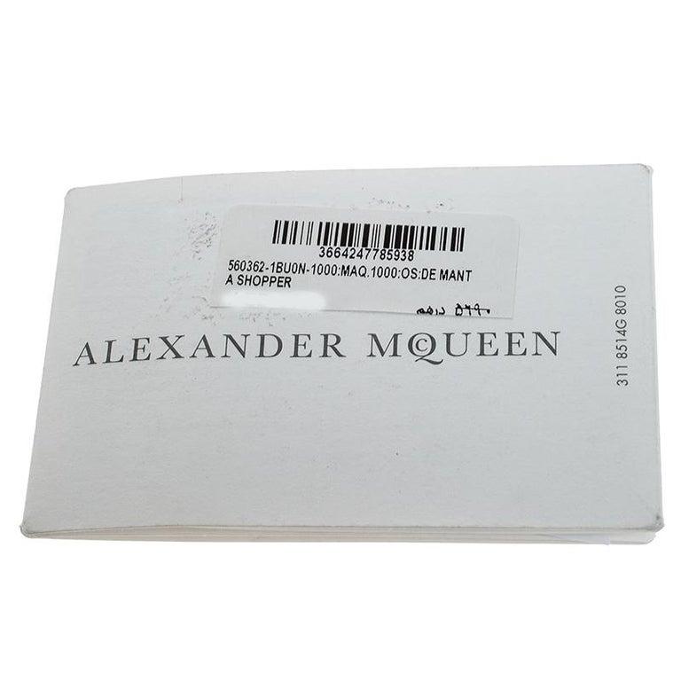 Alexander McQueen Black Leather De Manta Tote For Sale 7