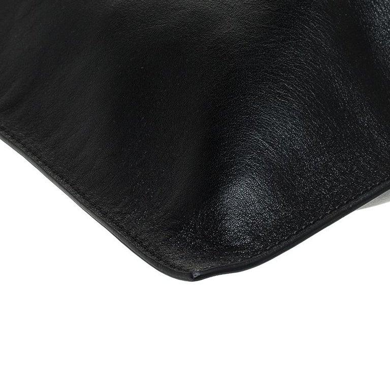 Alexander McQueen Black Leather De Manta Tote For Sale 3