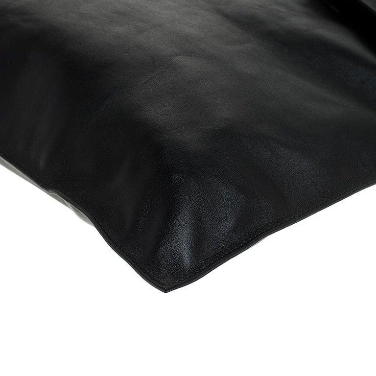 Alexander McQueen Black Leather De Manta Tote For Sale 4