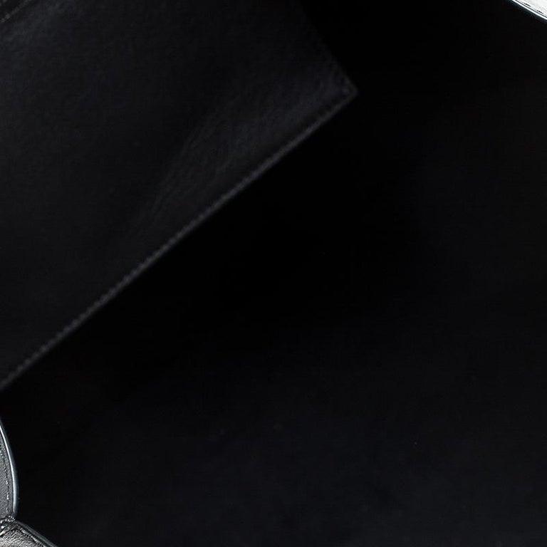 Alexander McQueen Black Leather De Manta Tote For Sale 5