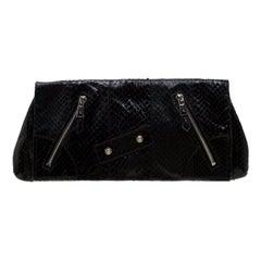 Alexander McQueen Black Leather Faithful Glove Clutch