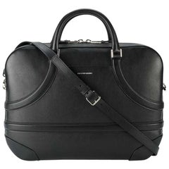 Alexander Mcqueen Black  Leather Harness Briefcase Italy