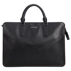 Alexander Mcqueen Black  Leather Heroic Briefcase United Kingdom w/ Dust Bag