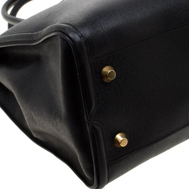 Alexander McQueen Black Leather Heroine Open Tote For Sale 6