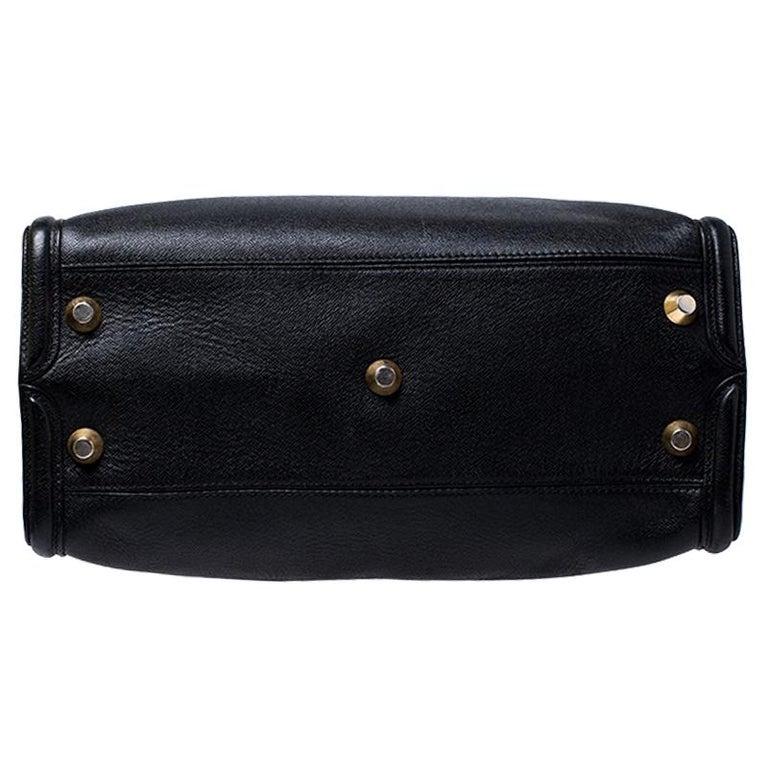 Alexander McQueen Black Leather Heroine Open Tote For Sale 6
