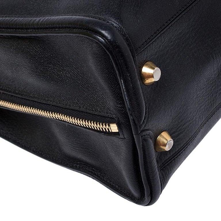 Alexander McQueen Black Leather Heroine Open Tote For Sale 2