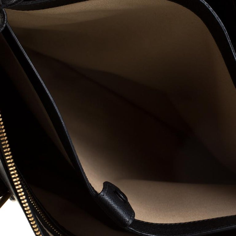 Alexander McQueen Black Leather Heroine Open Tote For Sale 3