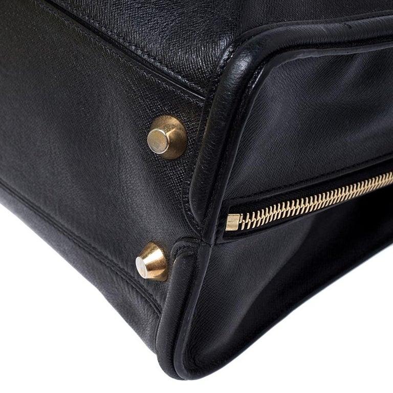 Alexander McQueen Black Leather Heroine Open Tote For Sale 3