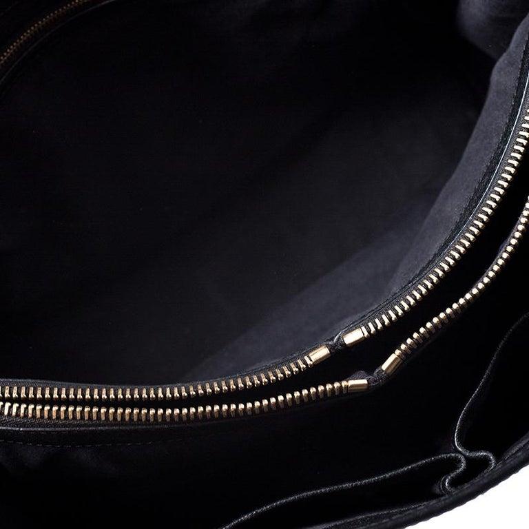 Alexander McQueen Black Leather Heroine Open Tote For Sale 4