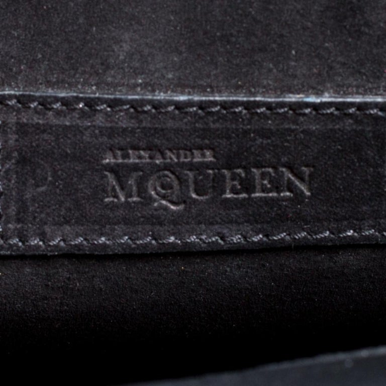 Alexander McQueen Black Leather Heroine Studded Shoulder Bag 6
