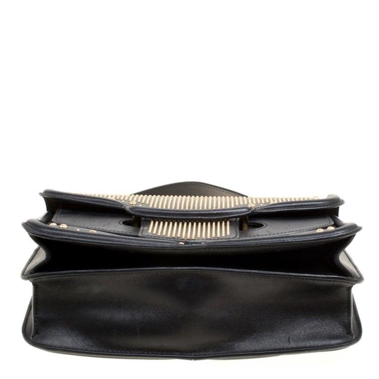 Alexander McQueen Black Leather Heroine Studded Shoulder Bag 1