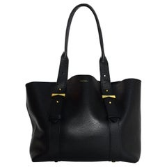 Alexander McQueen Black Leather Legend Tote Bag W/ Pouch Insert