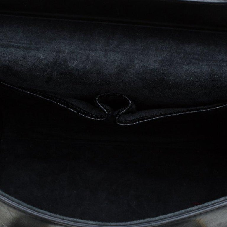 Alexander McQueen Black Leather Medium Heroine Tote For Sale 2