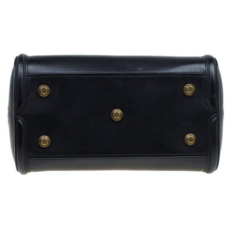 Alexander McQueen Black Leather Medium Heroine Tote For Sale 3