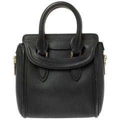 Alexander McQueen Black Leather Mini Heroine Bag