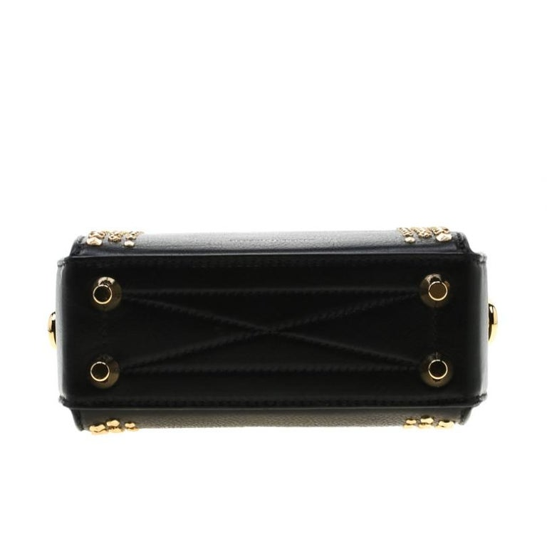 Alexander McQueen Black Leather Mini Studded Box Shoulder Bag 1