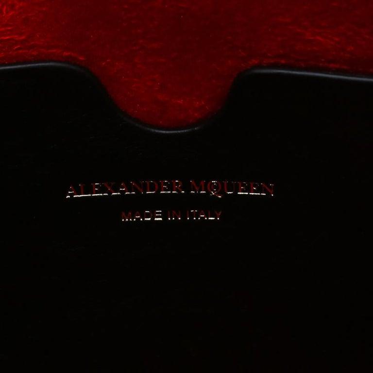 Alexander McQueen Black Leather Mini Studded Box Shoulder Bag For Sale 2