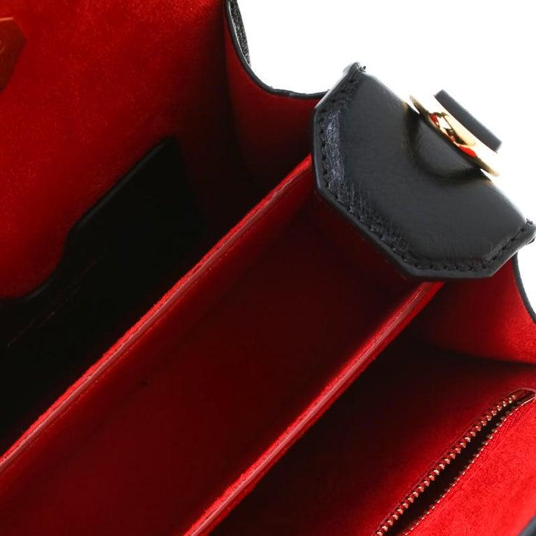 Alexander McQueen Black Leather Mini Studded Box Shoulder Bag For Sale 3