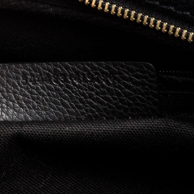 Alexander McQueen Black Leather Skull Padlock Tote For Sale 6