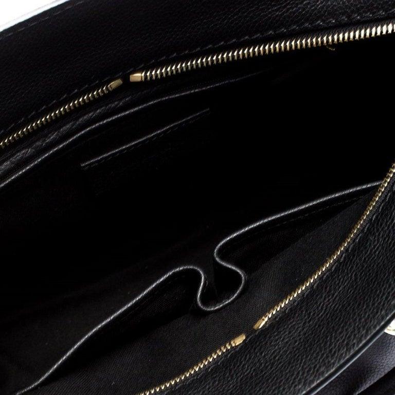 Alexander McQueen Black Leather Skull Padlock Tote For Sale 3