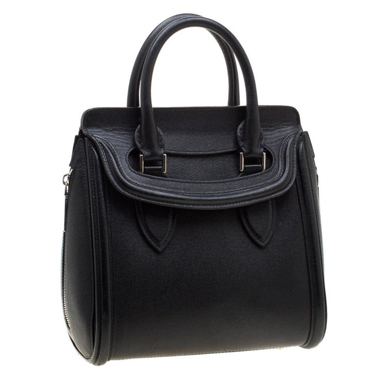 Women's Alexander McQueen Black Leather Small Heroine Satchel