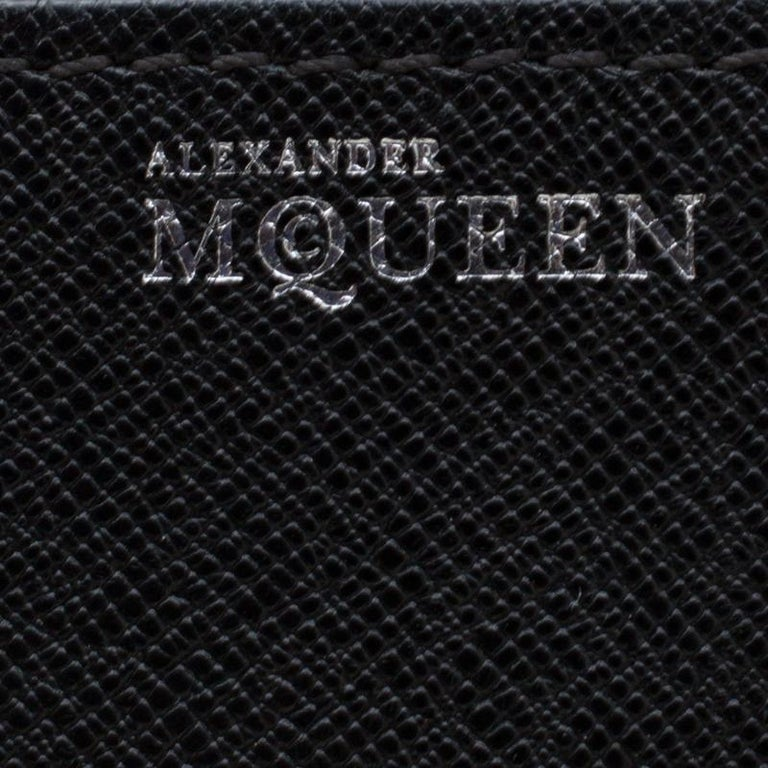 Alexander McQueen Black Leather Small Heroine Satchel For Sale 4