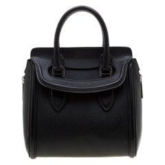 Alexander McQueen Black Leather Small Heroine Satchel
