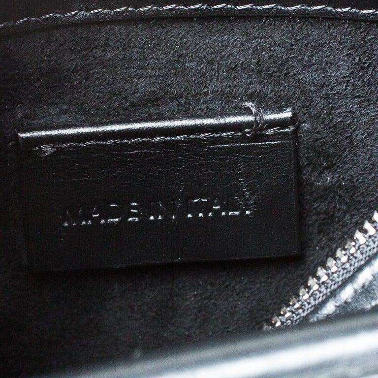Alexander McQueen Black/Pink Leather Small Heroine Satchel For Sale 6