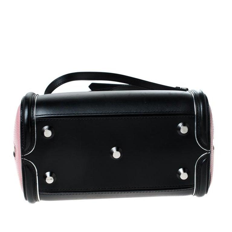 Alexander McQueen Black/Pink Leather Small Heroine Satchel For Sale 1