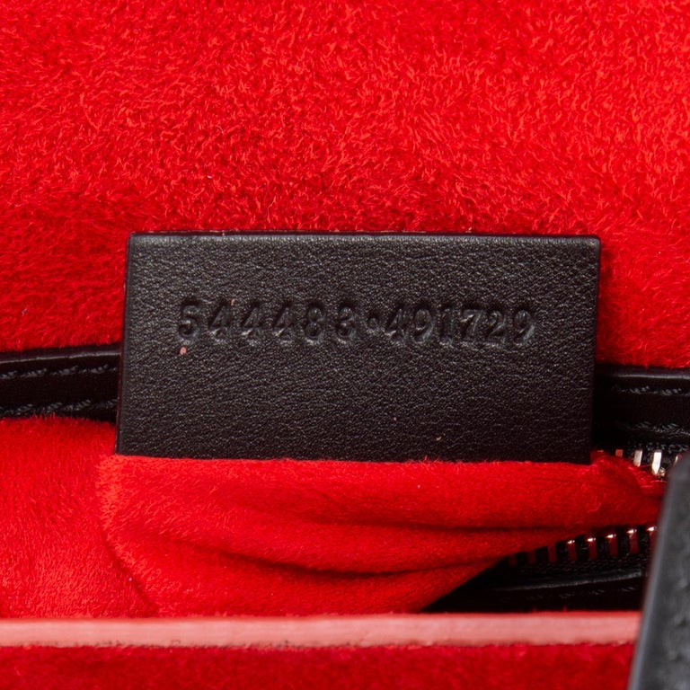 ALEXANDER MCQUEEN black & red leather BOX 19 WHIPSTITCH Bag For Sale 3