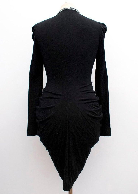 Women's Alexander McQueen Black Ruched Zip Dress US 2 For Sale