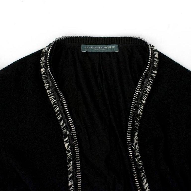 Alexander McQueen Black Ruched Zip Dress US 2 For Sale 1