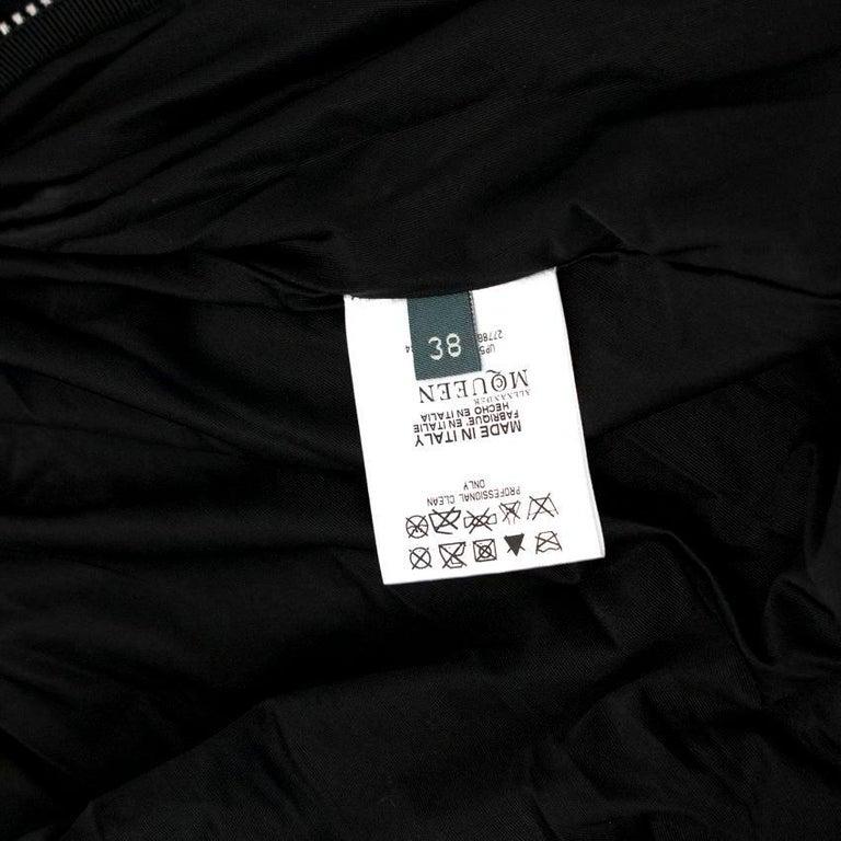 Alexander McQueen Black Ruched Zip Dress US 2 For Sale 3