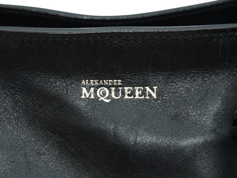 Alexander McQueen Black Studded Leather Tote Bag In Good Condition For Sale In New York, NY