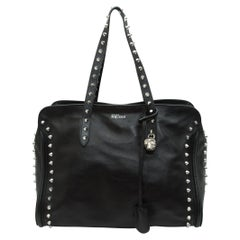 Alexander McQueen Black Studded Leather Tote Bag