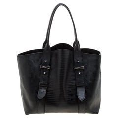 Alexander Mcqueen Black Textured Leather Tote