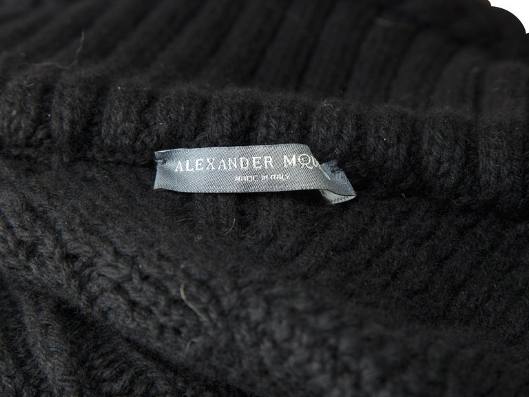 Women's Alexander McQueen Black Turtleneck Knit Jacket