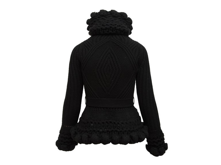Alexander McQueen Black Turtleneck Knit Jacket 1