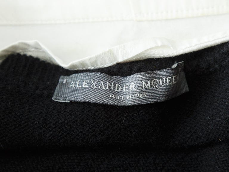 Alexander McQueen Black & White Layered Sweater In Good Condition For Sale In New York, NY