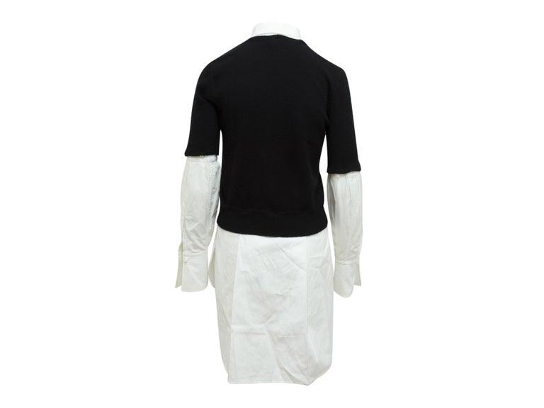 Women's Alexander McQueen Black & White Layered Sweater For Sale