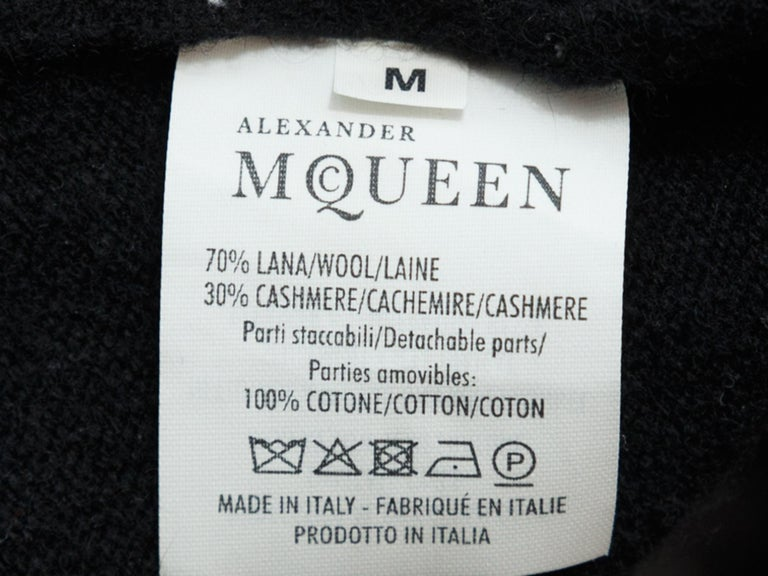 Alexander McQueen Black & White Layered Sweater For Sale 1