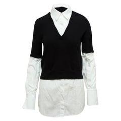 Alexander McQueen Black & White Layered Sweater